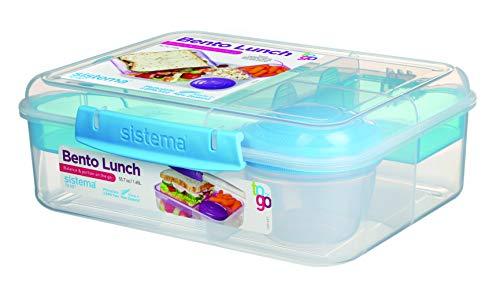 Sistema Bento Lunch Box to Go with Fruit/Yogurt Pot, 1.65 L £5 (Prime) + £4.49 (non Prime) at Amazon