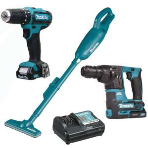Makita 108PK1 10.8v CXT - 3 Piece Pack with 2 x 1.5Ah Batteries and Charger - £179.99 delivered @ ITS