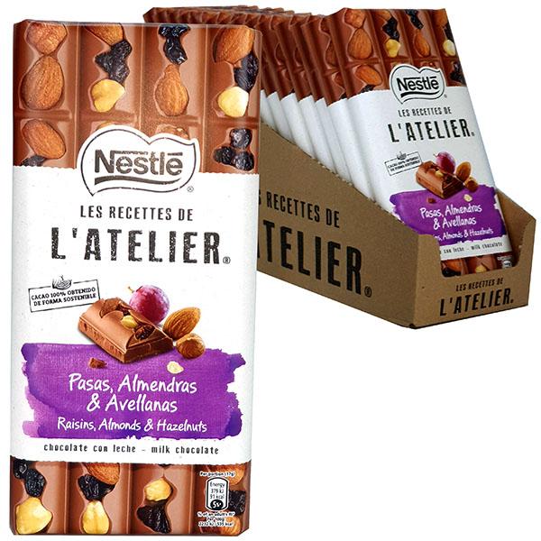 15 x Nestle L'Atelier Raisins, Almonds & Hazelnuts 170g Chocolate Bars £15 @ Yankee Bundles. BBE DEC 2020