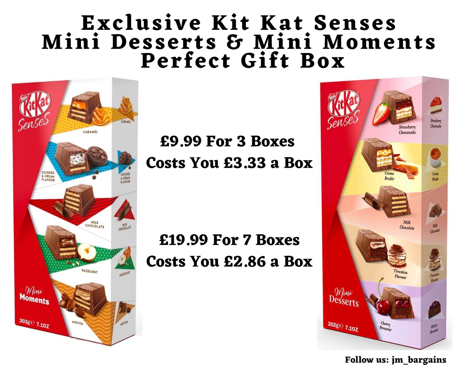 Exclusive Kit Kat Senses - Mini Desserts 202g & Mini Moments 203g - £9.99 delivered @ JM_bargains / eBay