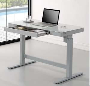 Tresanti Power Adjustable Height Tech Desk, White or Black - £263.98 In-Store @ Costco Warehouse
