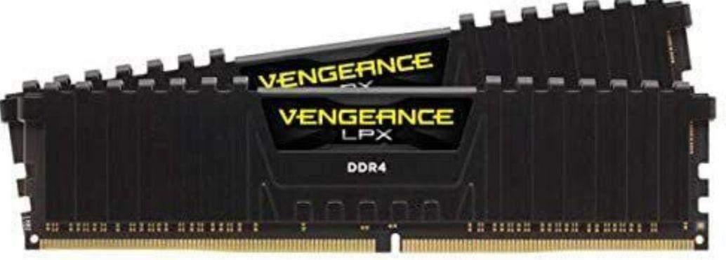 Corsair VENGEANCELPX16GB (2x 8GB) DDR4 3600 (Pc4-28800) C181.35V Desktop Memory - Black - £61.99 Delivered @ Amazon