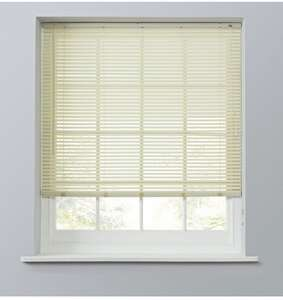 25mm PVC Venetian Blind - Cream - £4 + free Click and Collect @ Argos