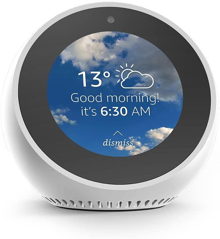 Amazon Echo Spot, Smart Alarm Clock with Alexa - White - £79.99 @ Amazon