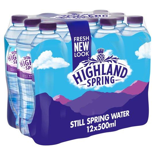 Highland Spring Still Water 12 x 500ml - £2 @ Tesco
