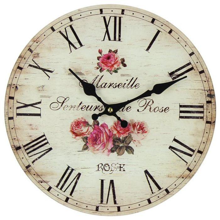 Argos Home Floral Glass Wall Clock c&c £6 @ Argos