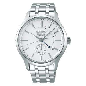 Seiko Men's Stainless Steel Zen Garden Presage Automatic Watch SSA395J1 [Frosted White Dial] - £269.10 with code at Hillier Jewellers
