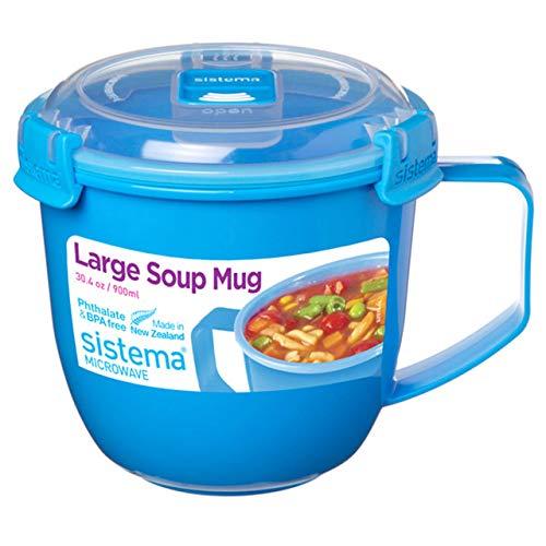 Sistema Large Microwave Soup Mug, 900ml (Assorted Colours) £2.50 Prime +£4.49 Non-Prime @ Amazon