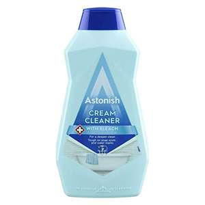 Astonish Cream Cleaner with Bleach 500ml £1.59 prime / £6.08 non prime @ Amazon (£1.51 Subscribe and Save)