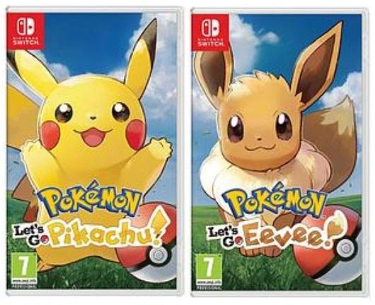 Pokemon Let's Go Pikachu / Eevee for Nintendo Switch £11 each in Tesco West Bromwich