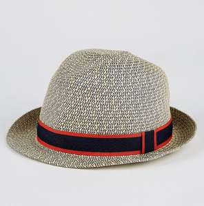 Straw Trilby Hat for £2 @ George (free click and collect)