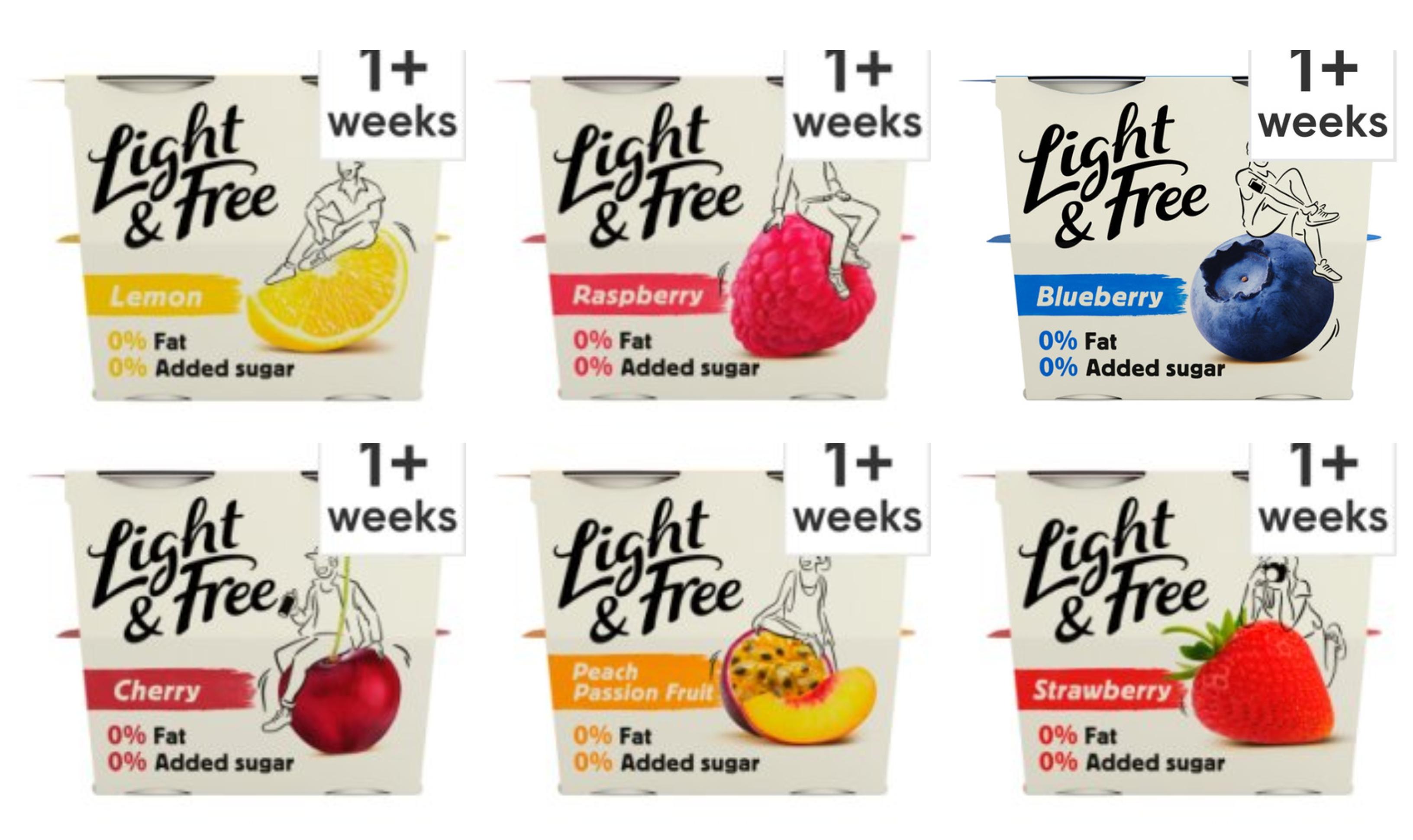 Light & Free Greek Style Yogurt 4X115g ( All Varieties) - £1.00 @ Tesco