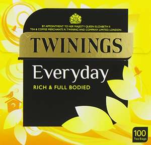 Twinings Everyday Tea 400 Bags (Multipack of 4 x 100 Bags) - £10 Prime / +£4.49 Non Prime @ Amazon