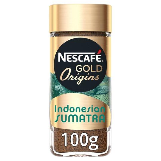 Nescafe Gold Origins Sumatra, Cap Colombie & Uganda Kenya 100G, now £2.25 @ Tesco