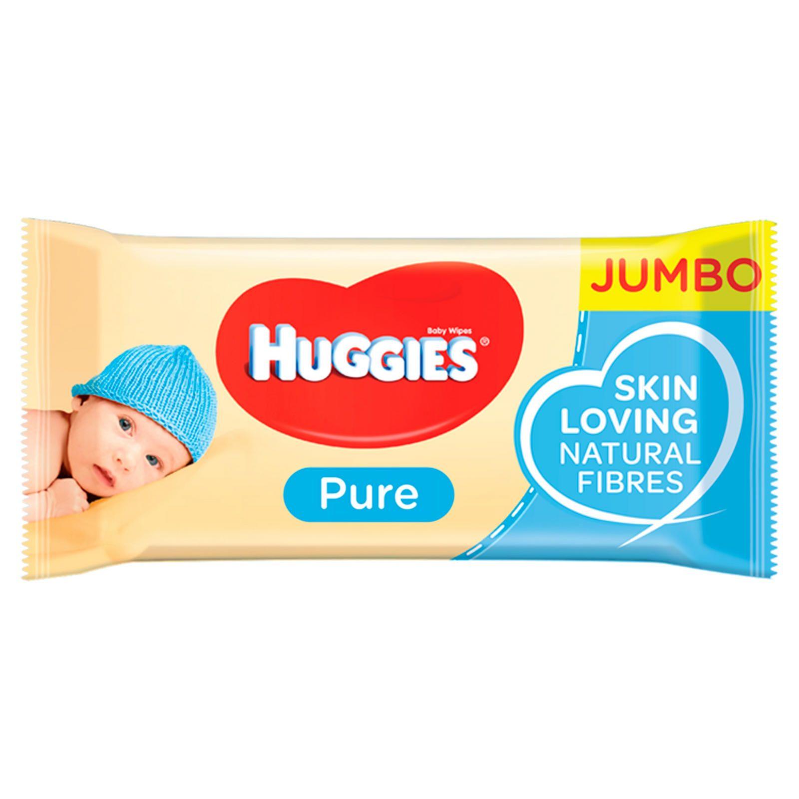 Huggies® Pure Baby Wipes - Jumbo Pack (72 Wipes/Pack) £0.79 @ Homebargains (Glasgow (Newton Mearns))