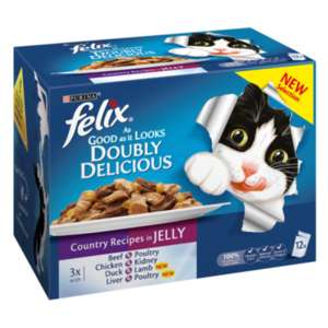 2 Pack of 12 Felix As Good As it Looks Pouches - £3.49 each / 2 for £4 + £3.95 Click and Collect / delivery @ The Range