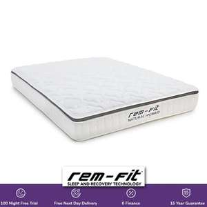 REM-Fit Natural Hybrid Mattresses - Single £160 / Double £235 / King £260 With 100 Night Trial + Free Next Day Delivery @ Remfit
