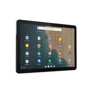 Lenovo Chromebook Duet 4GB RAM 128GB eMMc, Laptop Tablet Convertible in Blue, Gray - £285.83 delivered using code @ Quzo