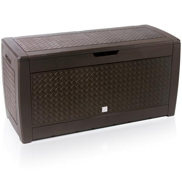 Deuba Cushion storage box in Matuba Brown 310L (119cm x 48cm x 60cm) for £41.95 delivered @ DeubaXXL