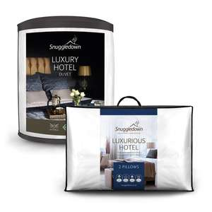 Snuggledown Luxury Hotel 10.5 Tog Duvet + Free Pair of Hotel Collection Pillows - Single £26.39 / Double £29.79 / King £31.49 @ Sleepseeker