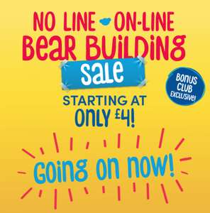 Build a bear sale Bears from £4 + £3.99 del