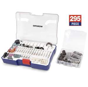 WORKPRO Rotary Tool 295 Piece Accessory Kit - £4.99 (prime) + £4.49 (non prime) Sold by GreatStarTools and Fulfilled by Amazon