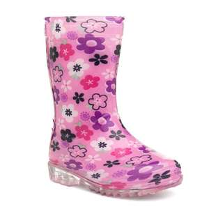 2 pairs for £10 - boys + girls wellingtons and other current offers from Shoezone