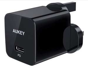 AUKEY 18W USB C Charger With Power Delivery 3.0, Type-C USB Wall Charger - £10.79 Prime / £15.28 Non Prime @ Sold by MingXi Eu & FBA