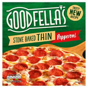 Goodfella's Stone Baked Thin Pizza Margherita or Pepperoni Pizza 345g £1 @ Iceland