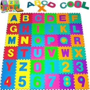 Puzzle play mat with pop-out letters and numbers for £30.95 delivered @ DeubaXXL