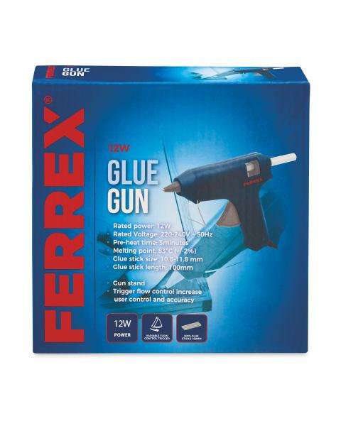 Ferrex 12W Glue Gun With Glue Sticks + 3 year warranty £3.99 @ Aldi Instore
