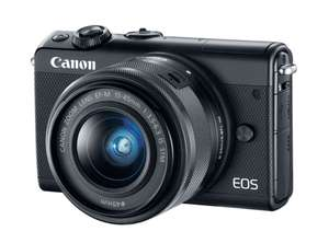 CANON EOS M100 24.2MP Camera + EF-M 15-45 mm f/3.5-6.3 IS + 55-200 mm - £199.97 @ Currys PC World, Wakefield