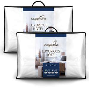 Pair of Snuggledown Luxurious Hotel Pillows on Buy One Get One Free Using Code (4 Pillows total) - £15.79 Delivered @ Sleepseeker