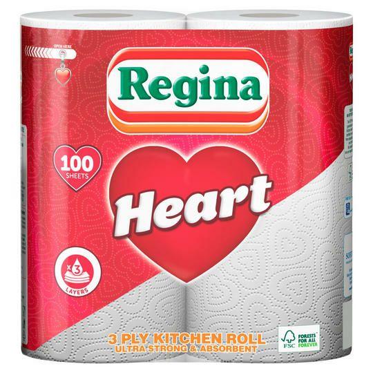 Regina Heart 3 Ply Kitchen Roll - £1 @ Iceland