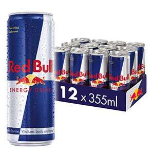 Red Bull 12 X 355ml cans - £17.40 / £14.79 w/15% off S&S voucher (+£4.49 Non-Prime) @ Amazon