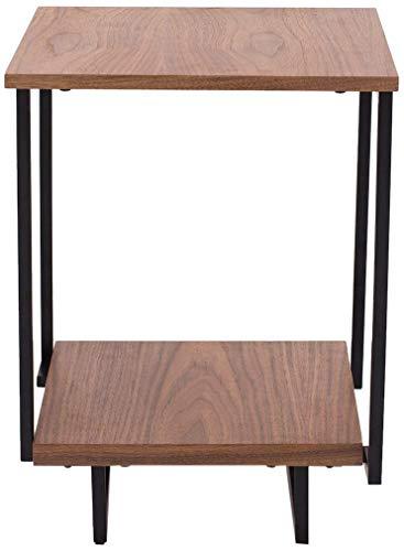Rivet End/Side Table with 2 Shelves, 40 x 40 x 54cm, MDF with Walnut Veneer/Black Metal Frame £16.74 + £4.49 NP @ Amazon UK