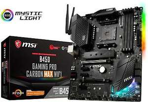 MSI B450 Gaming Pro Carbon MAX WIFI Motherboard AMD Socket AM4 AMD B450 Chipset for £119.41 delivered @ Boxdeal / eBay