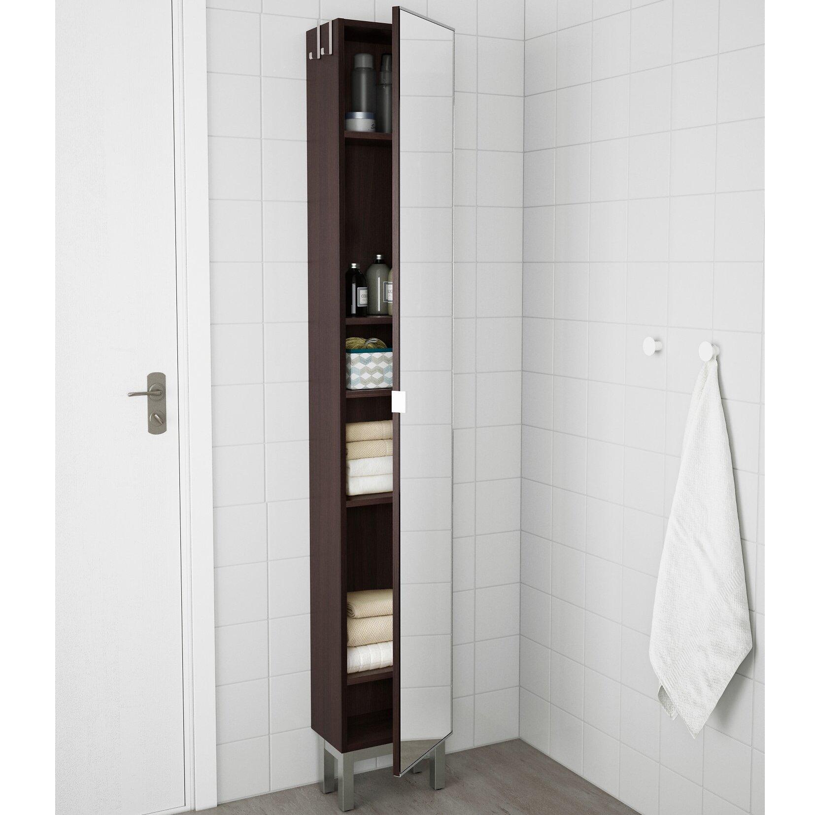 LILLÅNGEN High cabinet with mirror door, black-brown for £49 @ IKEA (in-store)