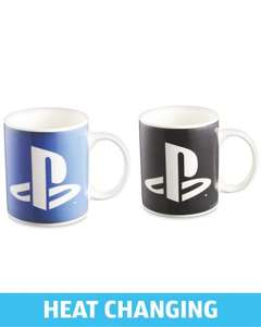 PlayStation heat changing mug £3.99 instore @ Aldi Airport Retail Park in Coventry