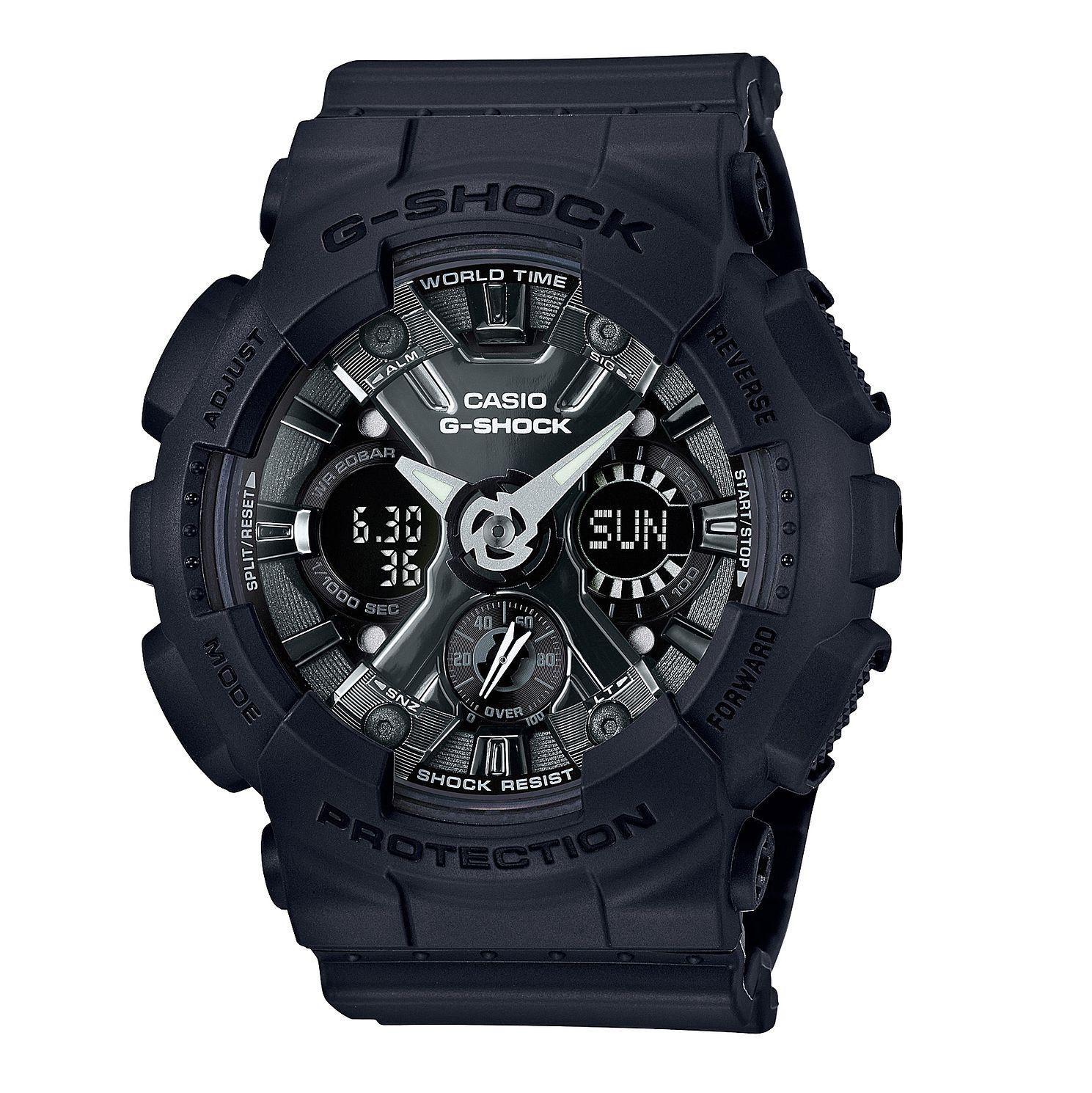 Casio G-Shock Shock Resistant World Time Black Resin Strap Watch, £50.99 at H.Samuel