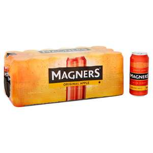 Magners cider 2 for £18 36 cans or £12 18 cans for single case @ Asda