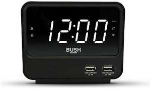 Bush FM USB Dual Alarm Digital Clock Radio - Black - £10.99 at Argos/ebay