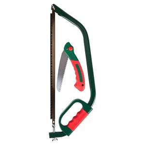 Qualcast Bow Saw and Folding Saw 7.95 Free Collection @ Homebase