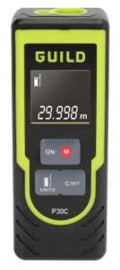 Guild 30m Laser Measure - £17 + free Click and Collect @ Argos