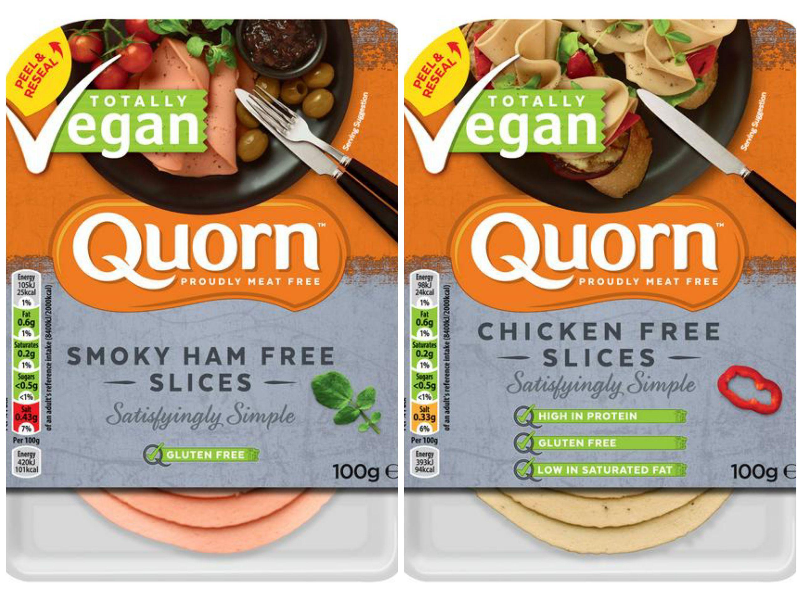 Quorn Vegan Smoky Ham Free Slices 100g or Quorn Vegan Chicken Free Slices 100g £1.50 at Sainsbury's