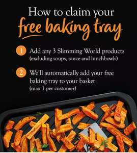 Free Slimming World Baking Tray with any 3 slimming world products @ Iceland (items from £2)