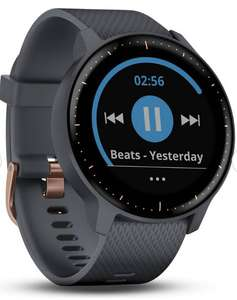 Garmin Vivoactive 3 Music Smart Watch-Rose Gold/Granite Blue - £139.99 @ Argos