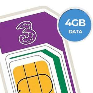 Three Sim Only - Unlimited Minutes and Texts, 4GB for £6pm (12 month) @ Three
