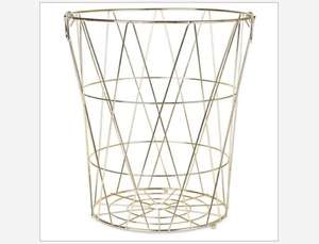 Tall Gold wire Storage Basket £6.03 @ Homebase (Free C&C)
