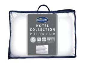 Silentnight Luxury Hotel Collection Med/Soft Pillow - 2 Pack £18 @ Argos (Free C&C)